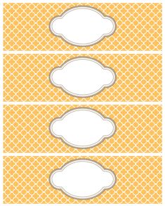Moroccan quatrefoil printable labels
