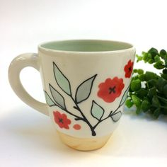Mug  Bold Bloom Coffee/Tea Gift by krystalspeck on Etsy