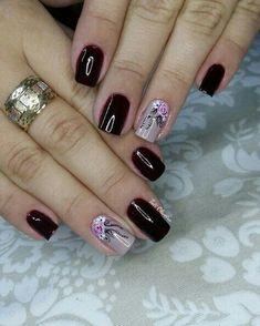 Conheça o melhor curso online de manicure! New Nail Designs, Colorful Nail Designs, Nail Polish Designs, Classy Nails, Simple Nails, Nail Polish Style, Beautiful Nail Art, Creative Nails, Manicure And Pedicure