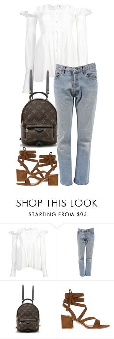 """""""Untitled #3037"""" by elenaday ❤ liked on Polyvore featuring Victoria Beckham, Levi's, Louis Vuitton and Gianvito Rossi"""