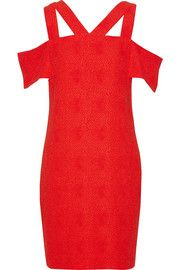 Sandro Ristretto cutout stretch-jacquard mini dress