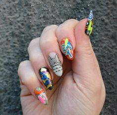 Life goal achieved - I had my nails done at DISCO Nails in Tokyo! Here is my japanese nail art graffiti manicure. I love the Totoro nail art :)