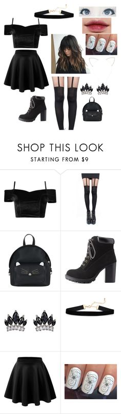 """Untitled #114"" by skylar123-479 on Polyvore featuring Pretty Polly, Accessorize, Charlotte Russe, Laneige, Fallon and Forever 21"