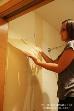 Strip interior latex semi gloss paint on wallboard hot hearing
