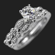 MiaDonna — Amore Vintage Diamond Wedding Band