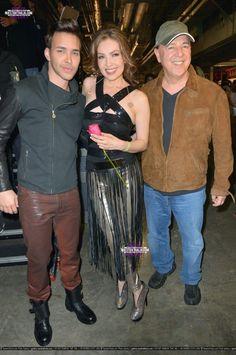 Thalia, Prince Royce And Tommy Mottola en Premios Lo Nuestro 2013