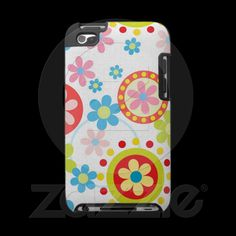 Happy flowers ipod touch 4g case from Zazzle.com