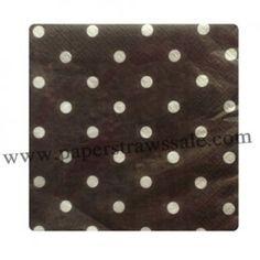 Black Polka Dot Paper Napkins http://www.paperstrawssale.com/black-polka-dot-paper-napkins-300pcs-p-777.html