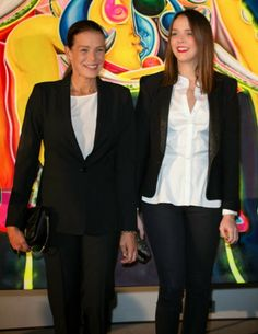 MYROYALS &HOLLYWOOD FASHİON: Princess Stephanie and Pauline Ducruet-Princess Stephanie as President of Fight Aids Monaco and her older daughter Pauline attended the annual auction for funds-raising for her foundation on the World AIDS Day in Monaco, December 1, 2013
