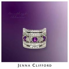 Purple with white gold