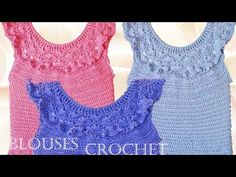 Blusa tejida a crochet para el verano - Learn Knitting easy crochet - YouTube