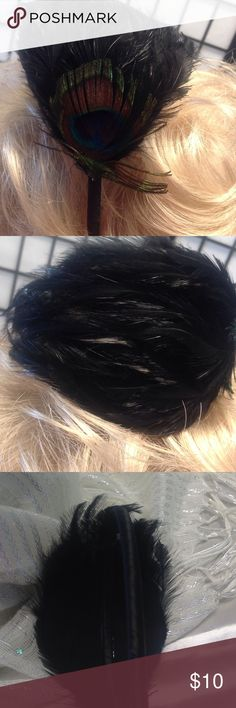 Head band Black feathers Accessories Hair Accessories