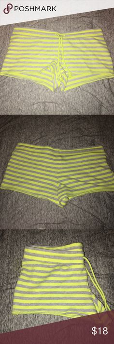 Mossimo Lounging Shorts Never worn, yellow and grey striped terry cloth shorts. Mossimo Supply Co Intimates & Sleepwear Pajamas