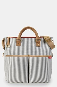We love stripes! Skip Hop 'DUO' Diaper Bag.