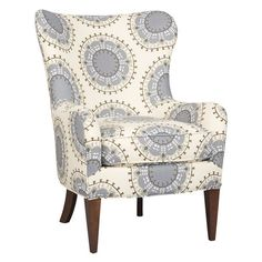 Upholstered arm chair with a blendown fill. Made in the USA.Product: ChairConstruction Material: Wood and fabric