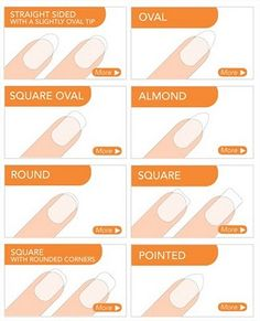 Different nail shapes and how to get them (http://www.sallyhansen.co.uk/nail-shapes)