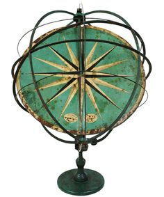 Armillary Sphere and Sundial, ca. late 19th C. Germany