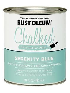 Finally, an authentic chalky paint from the home center. Like boutique specialty versions, this formulation is made with limestone, the key to producing that just-so matte finish. Available in more than two dozen colors. Chalked Paint by @rustoleum available at @homedepot