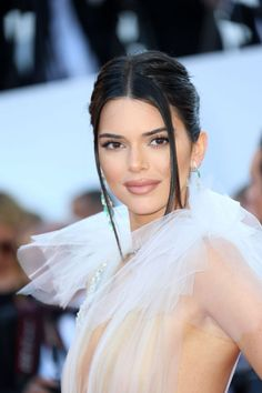 Kendall Jenner in sheer Schiaparelli Haute Couture gown at the Girls of the Sun during the 2018 Cannes Film Festival on Saturday (May in Cannes, France. Celebrity Red Carpet, Celebrity Style, Kendall Jenner Icons, Jenner Girls, Music Festival Fashion, Cannes Film Festival, Beautiful Actresses, Girl Crushes, Supermodels