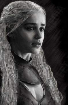 Daenerys Targaryen - Khaleesi - Mother of Dragons - Game of Thrones - Emilia Clarke - Wall Art - Poster - Print - Art