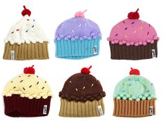 Cupcake Beanies - kind of amazing.
