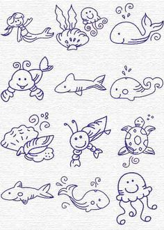 Embroidery Underwater critters, part Free Embroidery Designs, Sweet Embroidery, Designs Index Page