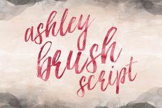 Ashley Brush Script by Printable Wisdom on Creative Market