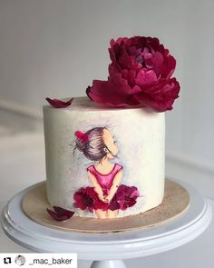 """We have collection of stunningly beautiful cake decorating to help inspire your baking passions and delight to the guest of honor. Take a look at the gallery board """"Cake Designs"""" Beautiful Birthday Cakes, Beautiful Cakes, Amazing Cakes, Stunningly Beautiful, Ballet Cakes, Ballerina Cakes, Pretty Cakes, Cute Cakes, Super Torte"""