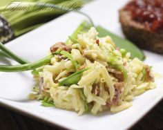 Kohlrabi, Apple and Bacon Slaw - sweet, tart and smokey, this summery salad is not only delicious but gluten, dairy and sugar free.