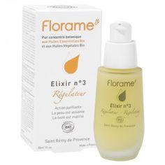 Elixir n°3 Régulateur 25.50€ les 30ml (moins cher que l'équivalnet chez melvita). utiliser mon code de réduction suite à mon diagnostic beauté sur le site mademoiselle bio