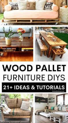 Transform wood pallets into amazing wood pallet furniture ideas with these 20 diy tutorials. From indoor wood pallet furniture ideas to pallet wood patio and outdoor living pieces this post contains the ultimate in diy wood pallet furniture ideas. Wooden Pallet Furniture, Pallet Wood, Diy Wood, Wood Pallets, Easy Diy Projects, Spring Projects, Diy Household Tips, Free Pallets, Wood Patio