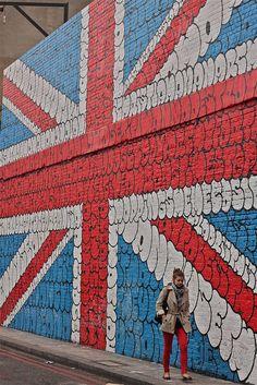 Street Britain: A massive Union Jack mural in London.