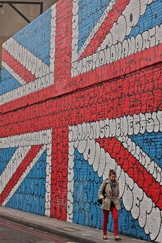 Street Britain: A massive Union Jack mural in London.