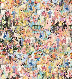 Ballets Russes Mini on Diaghilev Wallpaper – Voutsa Modern Floral Wallpaper, White Wallpaper, Fabric Wallpaper, Retro Wallpaper, How To Install Wallpaper, Pink Photography, Metallic Paper, White Backdrop, Pink Marble