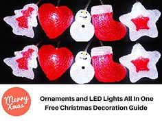 Christmas Tree Lights Decorations Red White Dcor Battery Operated LED Ornaments Fairy Unique 10Piece Shatterproof Waterproof String Lights Indoor Outdoor Decorative Christmas Party Lights ** You can get additional details at the image link.
