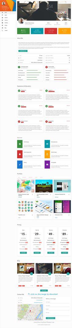 Matresume - Material CV \/ Resume \/ vCard \/ Portfolio Html Template - resume html template