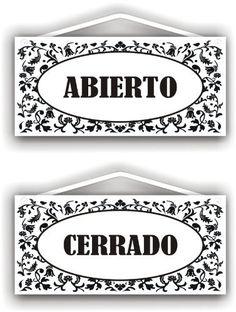 Abierto Cerrado - double sided sign by MySigncraft