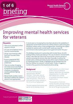 Improving mental health services for veterans briefing from the NHS Confederation Mental Health Services, Improve Mental Health, Military Veterans, Military Service, Health And Wellbeing, Mindfulness, Consciousness