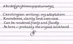[Bookhand writing exemplar]