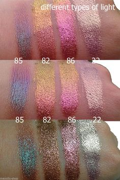 Inglot Pigment 13 58 Colors Makeup Mineral Eye Shadow Glitter Shimmer Loose PWDR…