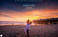 Jasmine & Kris have a gorgeous, inspiring backdrop at the beach. They built this amazing wedding website with @weddingwoo