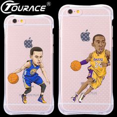 Neo Fashion funny cartoon NBA player Cover Case coque For iPhone 6 6S plus Transparent soft Silicone Phone Cases Fundas Capa