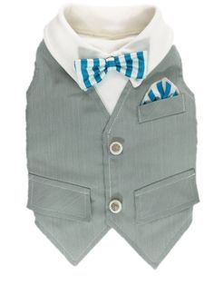 Palmdale Blue Vest by ArfArfBebe on Etsy