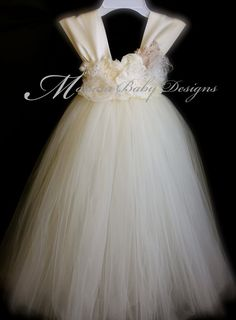 Ivory Vintage Tutu Dress / Ivory Flower Girl by ManaiaBabyDesigns, $124.00  We so could make for cheaper Carrie