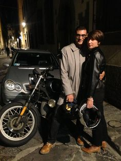 Bruno Spinazzola and Sofia C with BMW r.45 at Premio Latini 2013 - Florence Italy