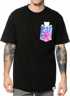 Diamond Supply Co x Grizzly Digi Tie Dye Black Pocket Tee Shirt at Zumiez : PDP