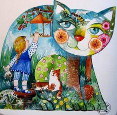 """""""Chat lanterne"""" par Oxana Zaika"""