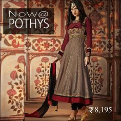 Get the perfect ethnic look. Wear this refreshing maroon churidar suit. The embroidery and patch border add a trendy edge to the look.