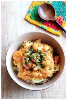 새우마요 오믈렛 덮밥 만드는법, 계란요리, 새우 달걀덮밥 – 레시피 | 다음 요리