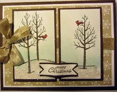 Crafty Maria's Stamping World: White Christmas in 2 Panels